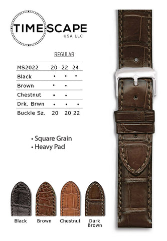 Hadley Roma - Alligator Watch Band - MS2022