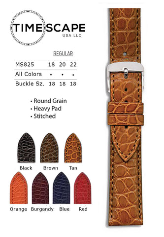 Hadley Roma - Alligator Watch Band - MS825