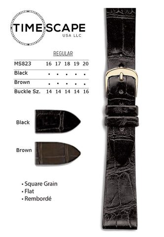Hadley Roma - Alligator Watch Band - MS823