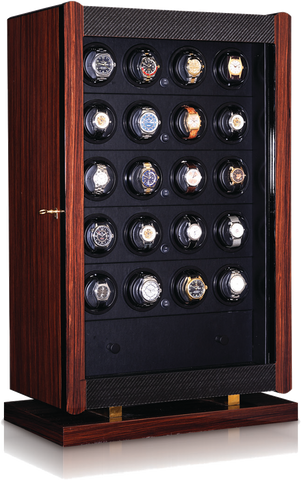 Orbita - Avanti 24 Macassar/Carbon | Programmable Watch Winder