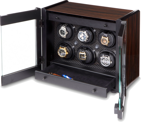 Orbita - Avanti 6 Macassar/Carbon | Programmable Watch Winder