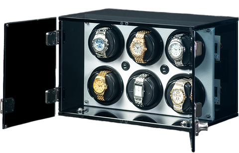 Orbita - Milano 6 White Leatherette | Rotorwind Watch Winder