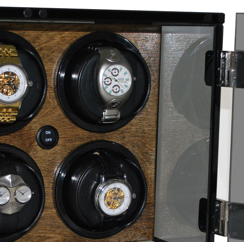Orbita - Milano 6 Walnut Wood | Rotorwind Watch Winder