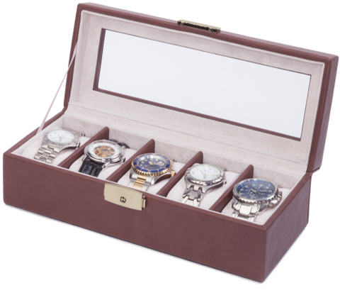 Orbita - Roma 5 Watch Case | Chocolate | Storage Case