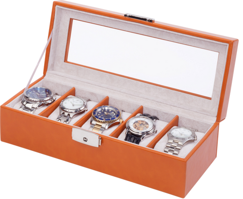 Orbita - Roma 5 Watch Case | Saddle | Storage Case