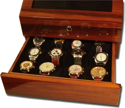 Orbita - Siena 3 Burlwood Executive | Rotorwind Watch Winder