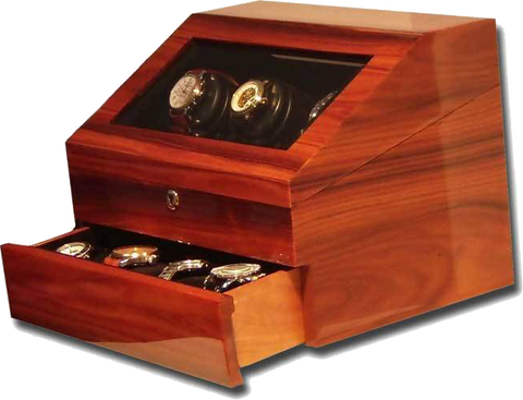 Orbita - Siena 3 Teakwood Executive | Programmable Watch Winder