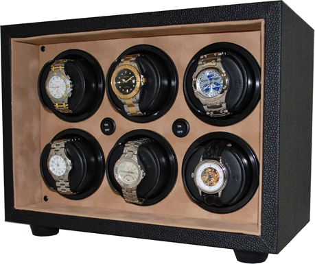 Orbita - Sparta InSafe 6 Black/Creme Vinyl | Rotorwind Watch Winder
