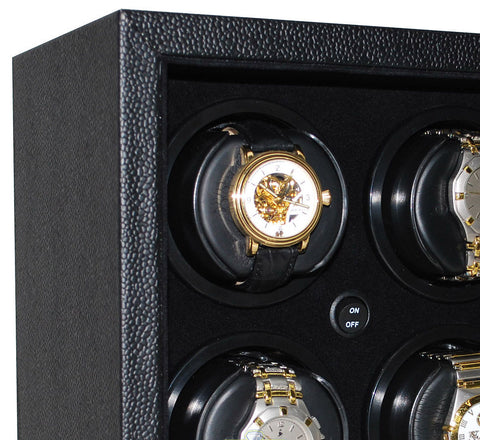 Orbita - Sparta InSafe 6 Open Front Black Vinyl/Black | InSafe 6 | Rotorwind Watch Winder