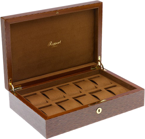 Rapport - Portman 10 Watch Box - Herringbone | L411