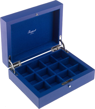 Rapport - Cufflink Box - Blue Leather | D113