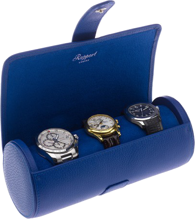 Rapport - Berkely Watch Roll - Blue Leather | D183