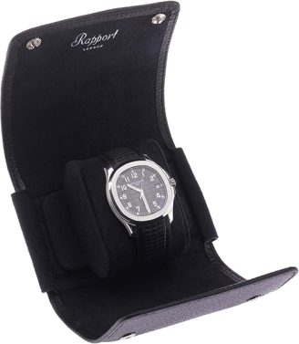 Rapport - Berkely Single Watch Roll - Black Leather | D190
