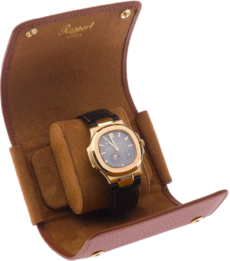 Rapport - Berkely Single Watch Roll - Brown Leather | D191