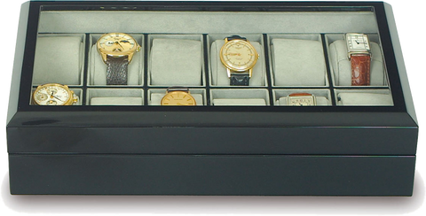Rapport - 12 Watch Box - Ebony | B245