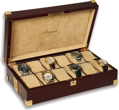 Rapport - 12 Watch Box - Mahogany | B266
