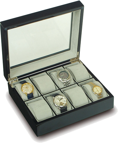 Rapport - 8 Watch Box - Ebony | B244