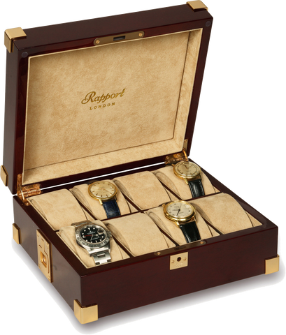 Rapport - Captain's 8 Watch Box - Mahogony | B266