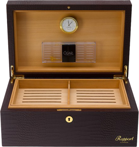 Rapport - Brompton Cigar Humidor - Brown Crocodile | D031