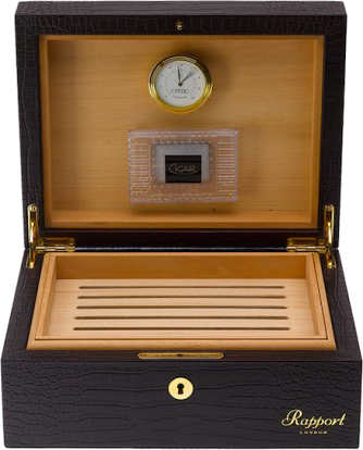 Rapport - Brompton Cigar Humidor - Brown Crocodile | D011