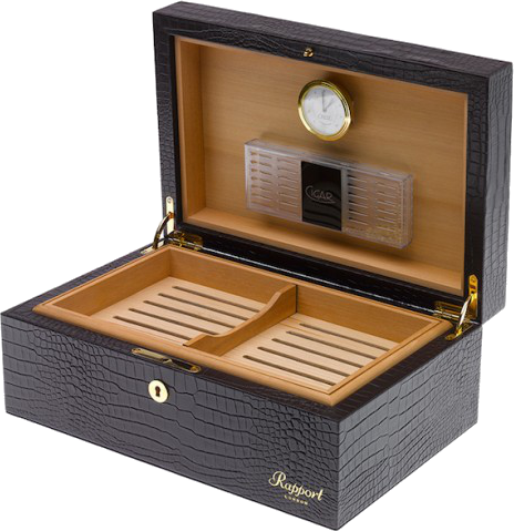 Rapport - Brompton Cigar Humidor - Brown Crocodile | D021