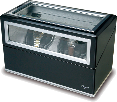 Double Black Ebony Aluminium Rapport Watch Winder