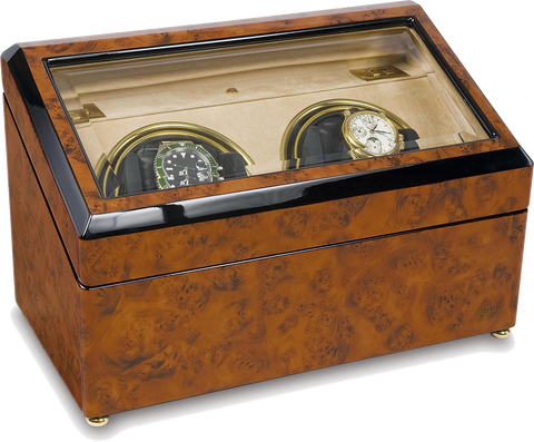 WalnuT Burr Double Rapport Watch Winder