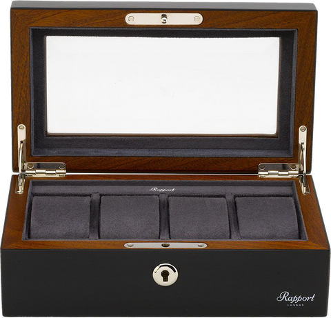 Rapport - Optic Charcoal Watch Box 4 | L414