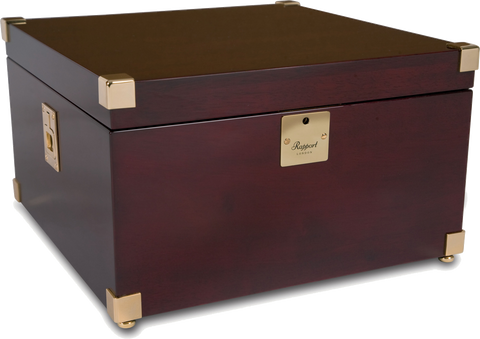 Rapport - Optima Captain's Quad - Mahogany w Brass | W274
