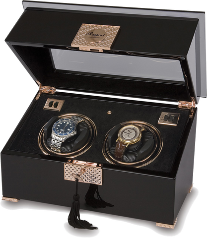 Black With Rose Gold Double Rapport Watch Winder