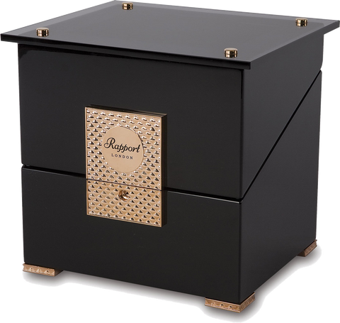 Rapport - Optima Single - Black w Rose Gold Watch Winder