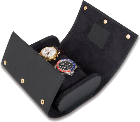 Rapport - Portman Double Watch Roll - Black Rubber | L115