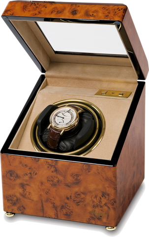 Rapport - Optima Single - Walnut Burr Watch Winder