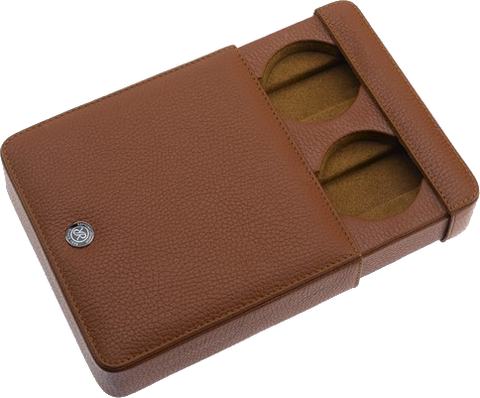 Rapport - Double Watch Slipcase - Brown Leather | D171