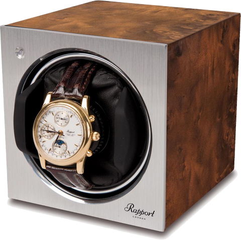 Rapport - Tetra Single - Walnut Burr Watch Winder