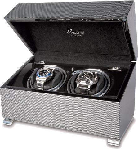 Grey Carbon Fiber Rapport Watch Winder