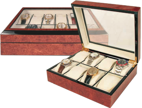 Rapport - 8 Watch Box - Walnut Burl | B242