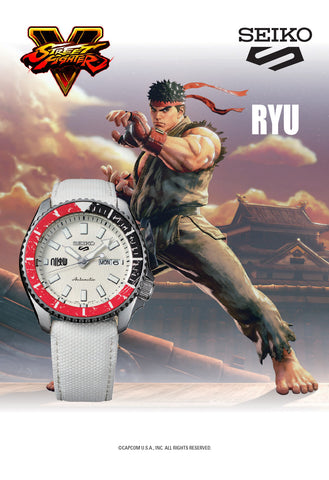 "Seiko - 5 Sports ""Street Fighter "" Set LE 