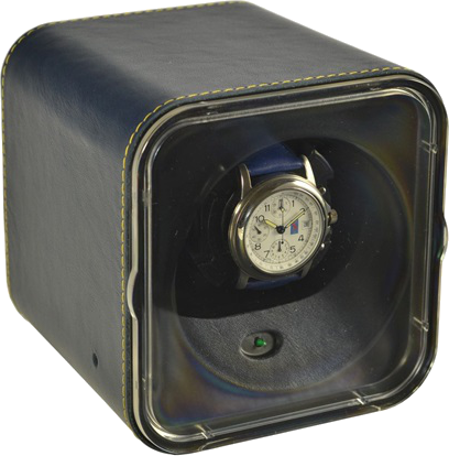 Custon Blue Leather Scatola del Tempo Watch Winder