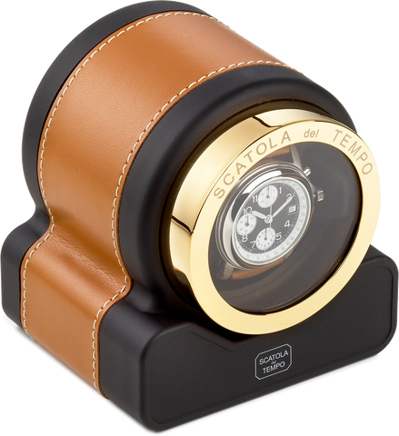 Tan Scatola del Tempo Watch Winder
