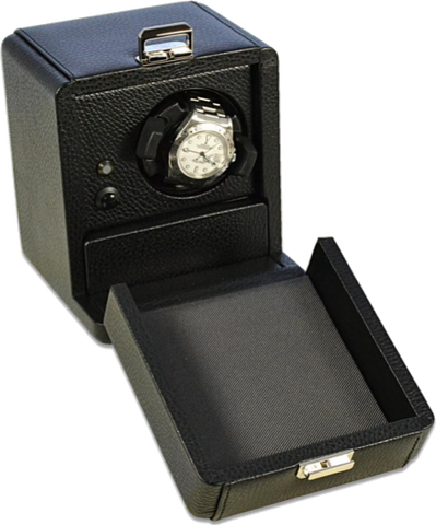 Black Leather Scatola del Tempo Watch Box