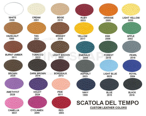 Scatola del Tempo - BE1 Leather - Smoke Camelia Grain