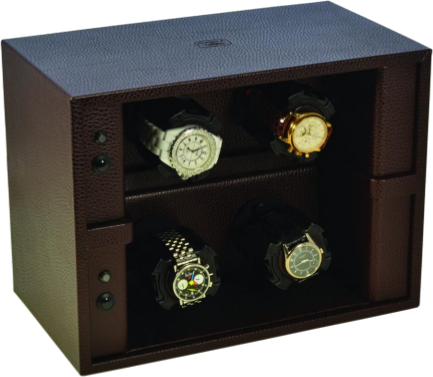 4 Dark Brown Scatola del Tempo Watch Winder