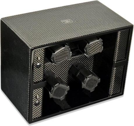 4 Carbon Scatola del Tempo Watch Winder