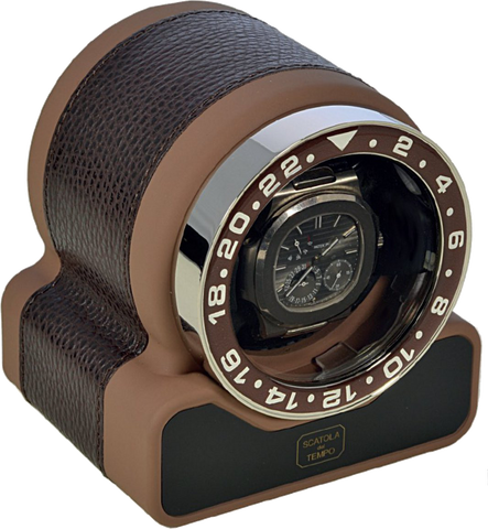 Scatola del Tempo - Rotor 1 Sport Soft Touch - Dark Brown Grain