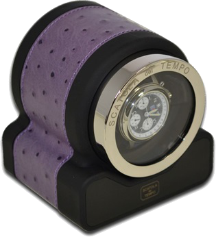 Amethyst Ostrich Scatola del Tempo Watch Winder