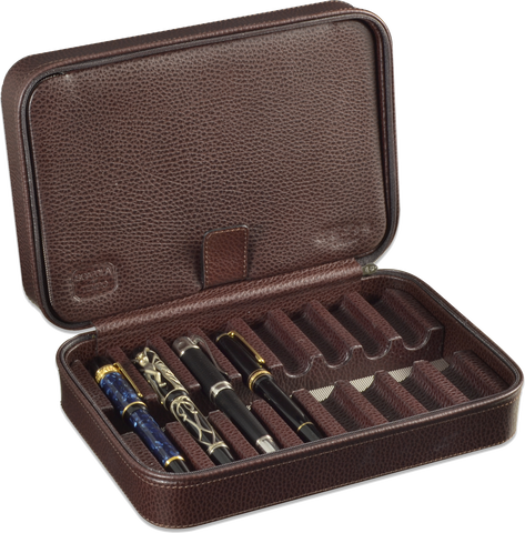 Scatola del Tempo - Pen Case 8 - Brown Grain