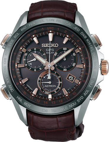 Seiko Astron Luxury Watch - GPS Solar Chronograph