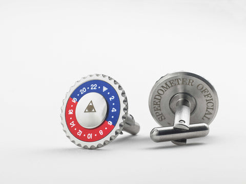 Speedometer Official - Red & Blue Cufflinks | SO-ACC-CFL-STEE-RDBE