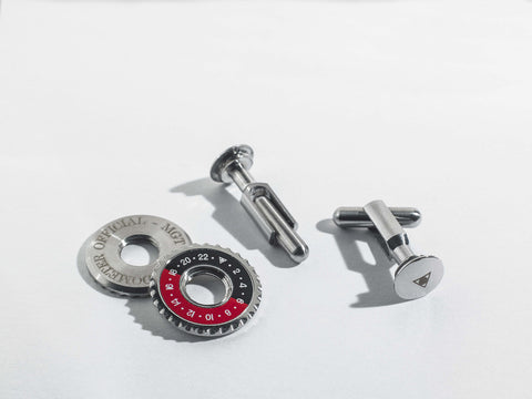 Speedometer Official - Red & Black Cufflinks | SO-ACC-CFL-STEE-RDBK